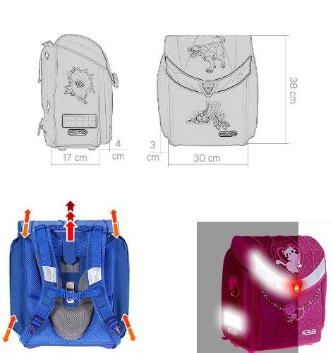 Ранец Herlitz Midi Heart Fawn без наполнения Олененок, - фото 13