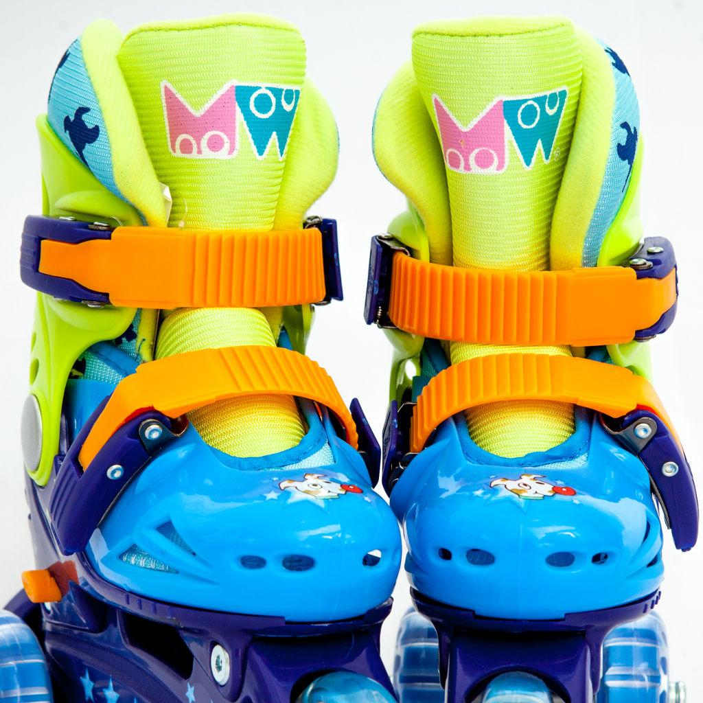 Детские трехколесные ролики MagicWheels зеленые, - фото 2