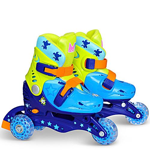 Детские трехколесные ролики MagicWheels зеленые