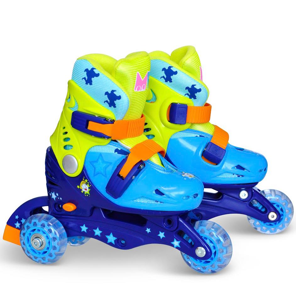 Детские трехколесные ролики MagicWheels зеленые, - фото 1