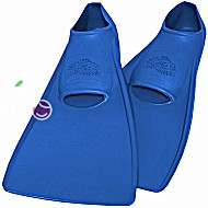 Ласты детские эластичные маленький размер 26 синие закрытая пятка ProperCarry (ПРОПЕРКЭРРИ)