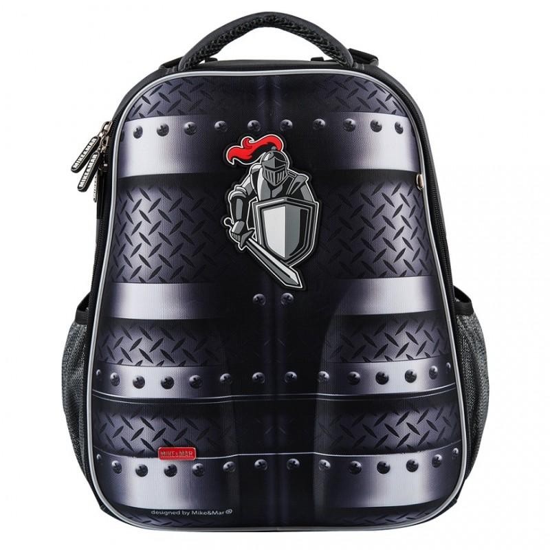Рюкзак Mike Mar Майк Мар Рыцарь черный 1008-155 + пенал, - фото 1